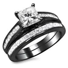 black gold wedding sets black bridal sets wedding ring sets for less overstock