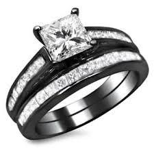 black gold wedding sets black bridal sets wedding ring sets for less overstock