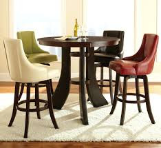 bar table chairs modern dining room design with 5 piece inch round pub set espresso finish