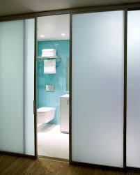 frosted glass interior bathroom doors modern internal glass