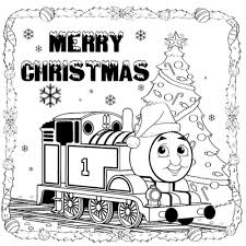 thomas train merry christmas coloring pages christmas