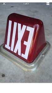 exit sign light bulbs red glass exit sign light 1920 30 fixture the classic and antique