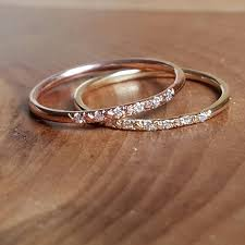 womens wedding band womens wedding bands 14k gold band pave band 14k wedding