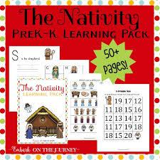 nativity printable pack for preschool and kindergarten