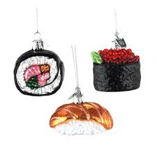 noble gems glass sushi tree ornaments 1 3 4 inch 3