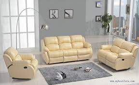 Leather Recliner Sofa 3 2 Yellow Leather Sofa Recliner 1025theparty