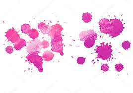 abstract watercolor aquarelle hand drawn red drop splatter stain
