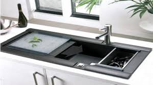 modern kitchen sink with drain boards and chrome faucet kitchen neat kitchen sink deals modern kitchen sink with slide out