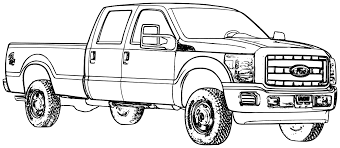 jacked truck coloring pages coloring