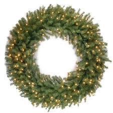 the oversized prelit wreath hammacher schlemmer