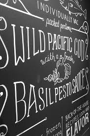seafood chalk lettering on behance