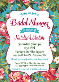 Tropical Theme Wedding - 15 tropical bridal shower invitations u0026 details southbound bride