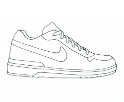 running shoe coloring page aecost net aecost net