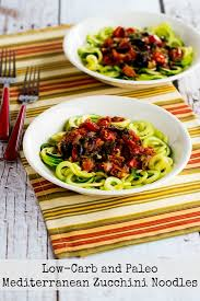 The Mediterranean Vegan Kitchen - low carb and paleo mediterranean zucchini noodles kalyn u0027s kitchen