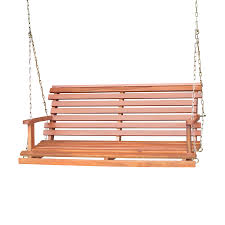 Porch Swings For Sale Lowes by Shop International Concepts Natural Porch Swing At Lowes Com