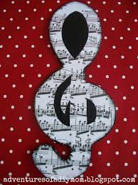 Music Note Decor Mod Podge Wooden Music Notes Decor Adventures Of A Diy Mom