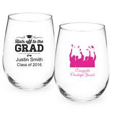 graduation wine glasses graduation personalized stemless wine glass personalized