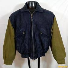 Wool Bomber Jacket Mens American College Mens Wool Bomber Jacket With Leather Sleeves Blue