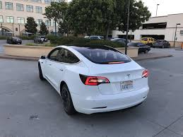 tesla model 3 spotted glass roof from inside user interface and