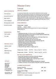 lawyer cv template legal jobs curriculum vitae job application