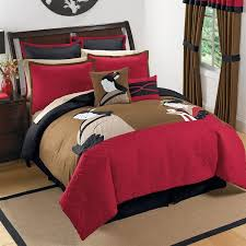 Tattoo Bedding King Black Red Brown Asian Inspired Japanese Comforter Bedding Set