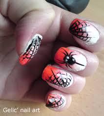 gelic u0027 nail art halloween spider and spider web nail art