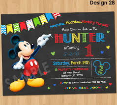 Mickey Mouse 1st Birthday Card Mickey Mouse Clubhouse 1st Birthday Party Invitations