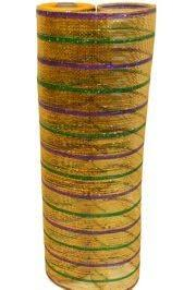 mardi gras mesh deco mesh ribbon in traditional mardi gras colors purple green