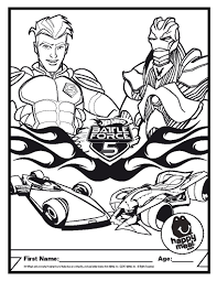 wheels battle force 5 coloring pages and glum me