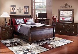 rooms to go bedroom sets sale summer grove espresso 5 pc queen sleigh bedroom queen bedroom