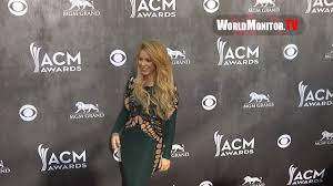 shakira arrives at 49th annual academy of country music awards