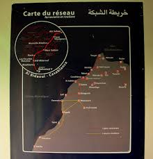 Tanger Map File Moroccan Railway Map In The First Class Car Of Oncf Loco