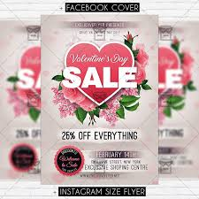 valentines flyer template day sale premium flyer template exclsiveflyer free