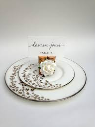Table Place Settings by Rose Wedding Place Card Holder Weddings Table Decor Place Card