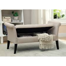 Upholstered Storage Bench Uk Bench Accent Bench Magnolia Home By Joanna Gaines Accent