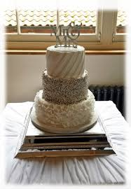 3 Tier Wedding Cake 3 Tier Silver Cluster Wedding Cake Bakealous
