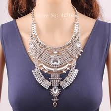 silver chunky fashion necklace images New arrival latest design 2018 fashion silver color crystal jpg