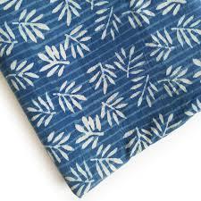 Light Cotton Fabric Jaipur Village Craft Light Blue Hand Block Print Cotton Fabric
