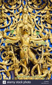 temple ornaments in wat phra kaeo of bangkok thailand stock photo