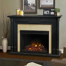 real flame maxwell 58 in grand series electric fireplace in black