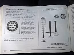 show us your manual and tell us what oil you use passenger car