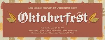 oktoberfest invitations evite