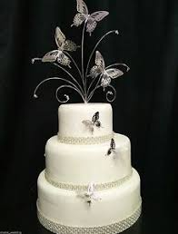 butterfly wedding cake silver butterfly wedding cake topper 3 butterfly side