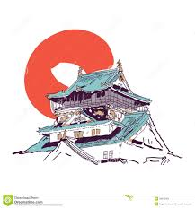 japanese house drawing stock photos image 34613403