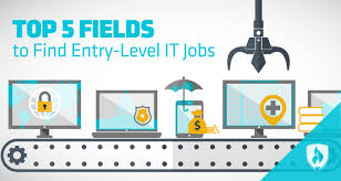 5 fields find entry level it jobs