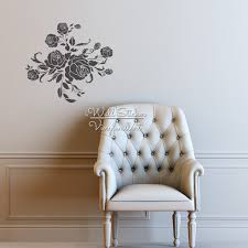 aliexpress com buy rose flower wall sticker floral rose wall aliexpress com buy rose flower wall sticker floral rose wall decal diy modern blossom wall stickers easy wall art cut vinyl stickers f21 from reliable