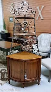Ethan Allen Corner Cabinet by Ethan Allen Corner Bakers Rack China Cabinet Legacy Collection