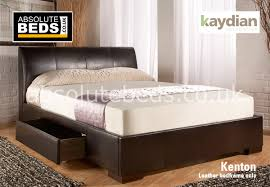 kaydian kenton faux leather bed frame with drawers best price