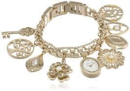 anne klein bracelet gold images Buy anne klein women 39 s 10 8096chrm swarovski crystal accented gold jpg