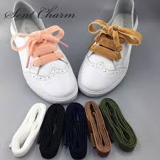 ribbon shoelaces sentcharm new arrival sided velvet ribbon shoelaces high end
